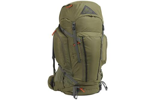 Burnt Olive/Dark Shadow - Kelty Coyote 85 backpack, front view