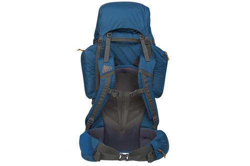 Kelty Coyote 85 backpack, Lyons Blue/Golden Oak, rear view