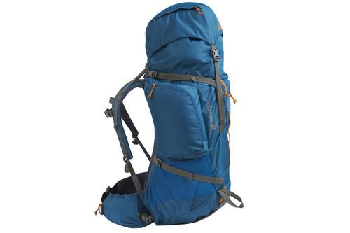 Kelty Coyote 85 backpack, Lyons Blue/Golden Oak, side view