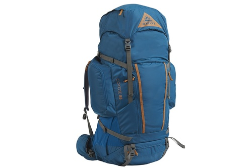 Kelty Coyote 85 backpack, Lyons Blue/Golden Oak, front view