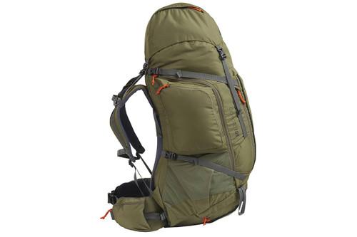 Kelty Coyote 105 backpack, Burnt Olive/Dark Shadow, side view