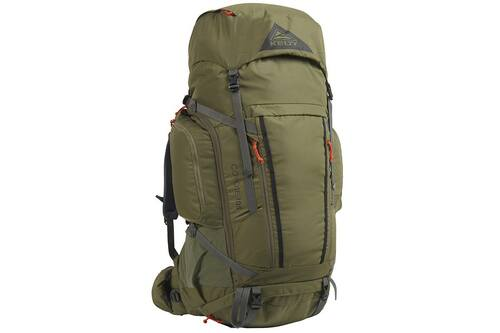 Burnt Olive/Dark Shadow - Kelty Coyote 105 backpack, front view