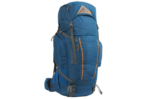 Lyons Blue/Golden Oak - Kelty Coyote 105 backpack, front view