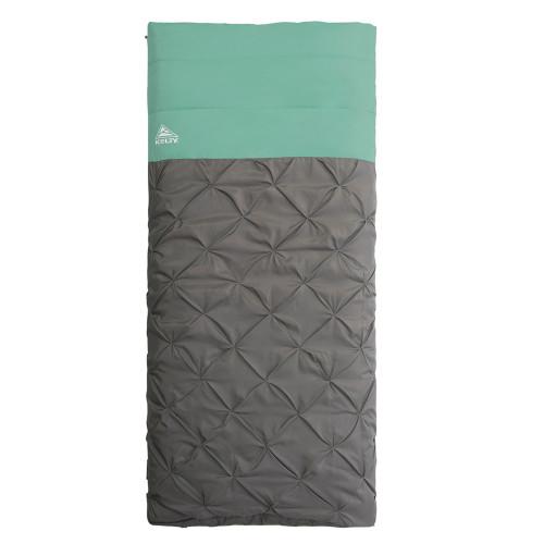 Kelty Kush 30 Sleeping Bag, green/grey, shown fully closed