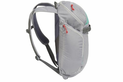 Kelty Redwing 22 backpack, Smoke/Lagoon, side view