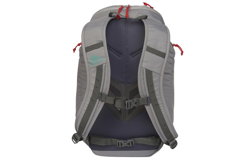 Kelty Redwing 22 backpack, Smoke/Lagoon, rear view