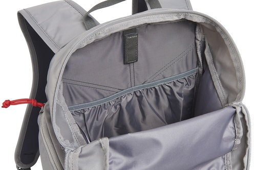 Close up of Kelty Redwing 22 backpack, with main compartment opened
