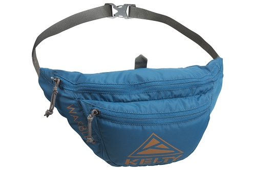 Lyons Blue/Golden Oak - Kelty Warbler fanny pack, front view