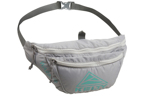 Smoke/Lagoon - Kelty Warbler fanny pack, front view