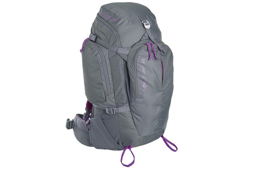 Kelty Women's Redwing 50 backpack, gray, front view