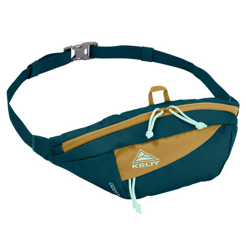 Reflecting Pond/Dull Gold - Kelty Giddy 3L waistpack, front view