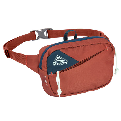 Gingerbread/Reflecting Pond - Kelty Stub 1L waist pack, front view