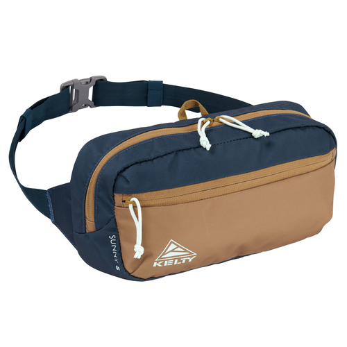 Reflecting Pond/Dull Gold - Kelty Sunny 5L waistpack, front view