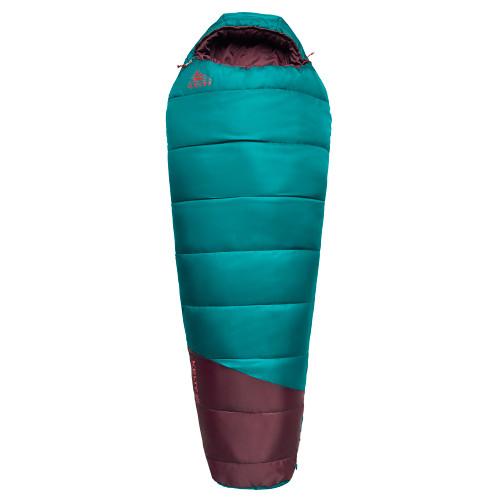 Deep Lake/Huckleberry - Kelty Mistral Kids 20 Sleeping Bag, fully closed