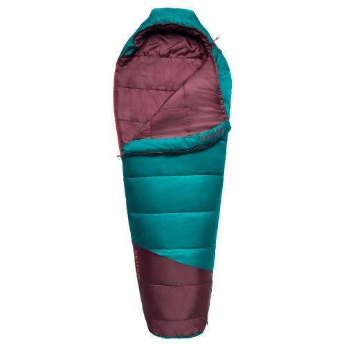 Kelty Mistral Kids 20 Sleeping Bag, Deep Lake/Huckleberry, partially unzipped