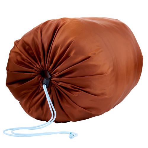 Kelty Mistral Kids 20 Sleeping Bag, Gingerbread/Deep Teal stuff sack