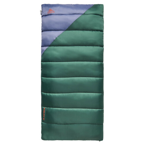 Posey Green/Grisaille - Kelty Catena 30 Sleeping Bag, fully closed