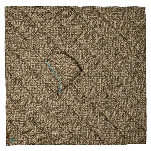 Kelty Hoodligan Blanket, Trellis/Backcountry Plaid, with hood hidden