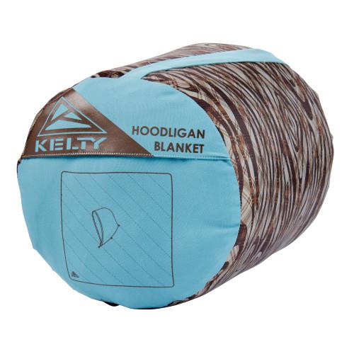 Kelty Hoodligan Blanket, Trellis/Backcountry Plaid stuff sack