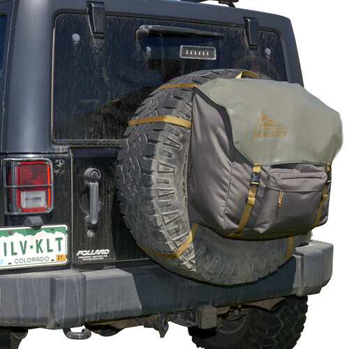 Kelty Trash Pak - shown mounted on Jeep, close up
