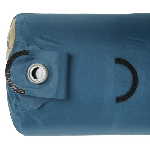 Close up of Kelty Waypoint Si Sleeping Pad inflation bag, showing flap of inflation port opened