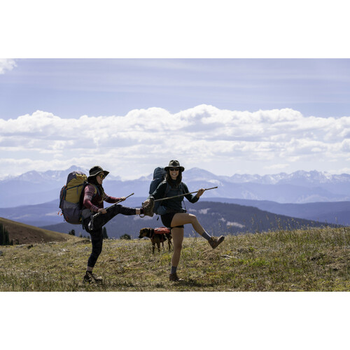 Campers wearing Kelty Women's Asher 55 backpacks on a hike