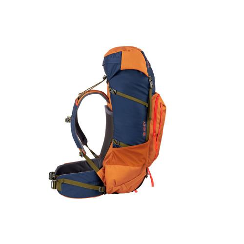 Kelty Asher 55 Backpack, Golden Oak/Midnight Navy, side view