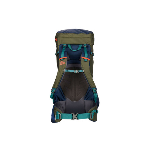 Kelty Asher 55 Backpack, Midnight Navy/Burnt Olive, rear view