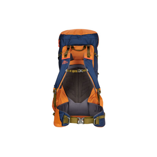 Kelty Asher 55 Backpack, Golden Oak/Midnight Navy, rear view