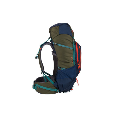 Kelty Asher 55 Backpack, Midnight Navy/Burnt Olive, side view