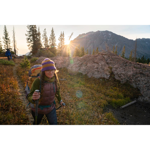 Woman hiking with Kelty Asher 55 Backpack