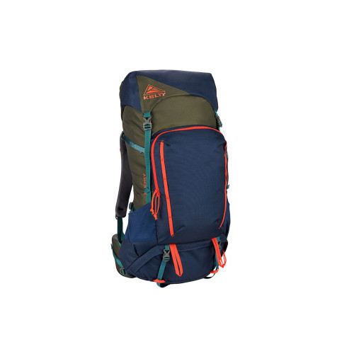 Midnight Navy/Burnt Olive - Kelty Asher 55 Backpack, front view
