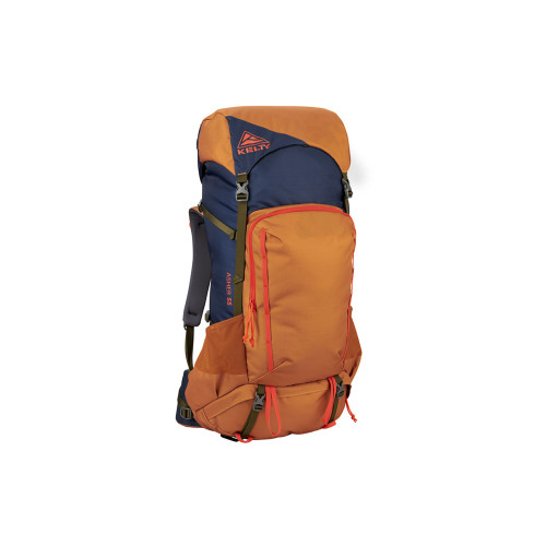 Golden Oak/Midnight Navy - Kelty Asher 55 Backpack, front view