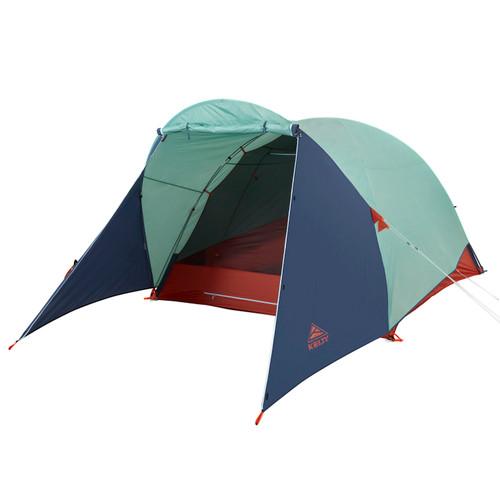 Kelty Rumpus 6 tent, with fly attached, door open