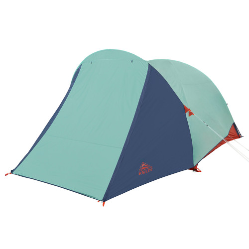 Kelty Rumpus 6 tent, with fly attached, door closed