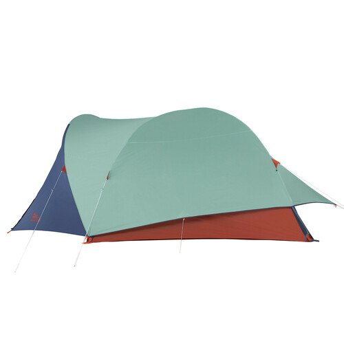 Kelty Rumpus 6 tent, with fly attached, side view