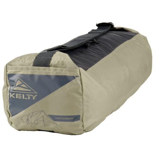 Kelty Waypoint Tarp, Elm/Dark Shadow, shown packed inside storage bag