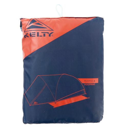 Kelty Rumpus 6 footprint, shown inside storage bag