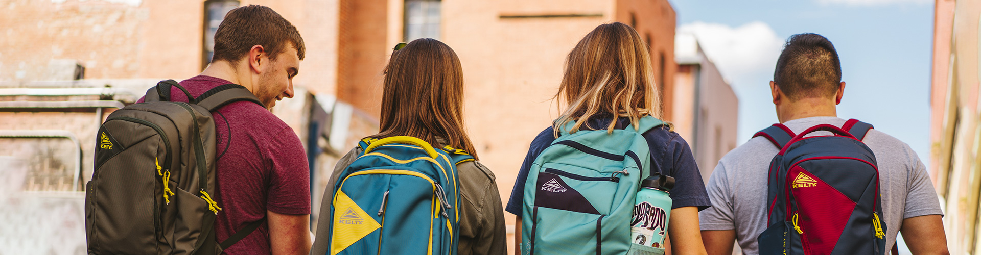 Group of friends with Kelty daypacks