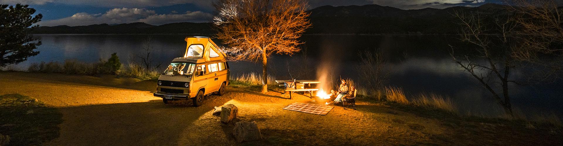 Camping with a vintage camper van