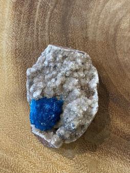 New Superb Cavansite Crystal Cluster, Specimen One Of Kind (From  India)