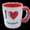 I Love Macaws Mug - Red