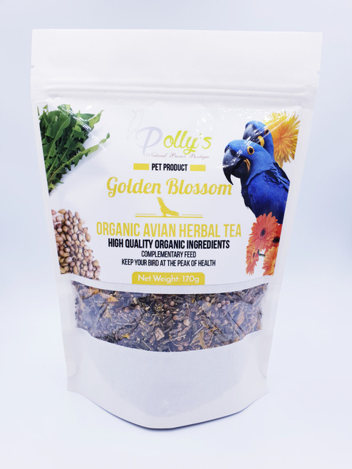 Golden Blossom Organic Tea For Parrots