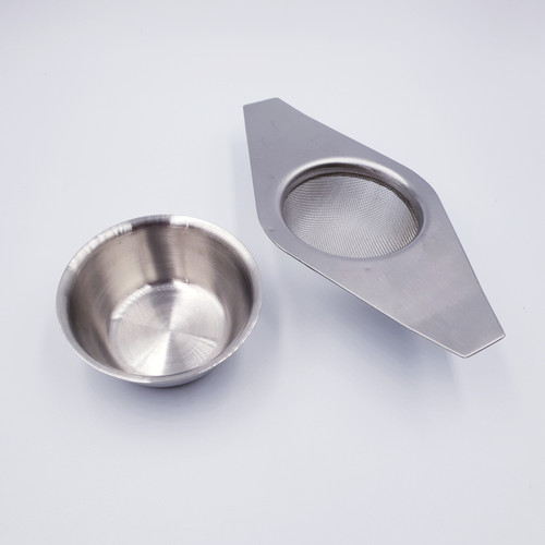Double-Armed Stainless Steel Strainer