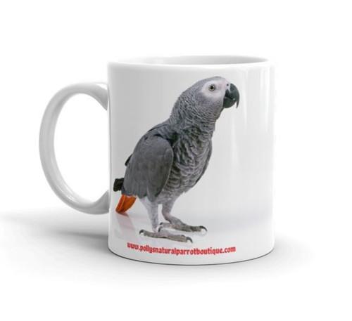 African Grey Parrot Mug - 60 Shades of Grey Mug