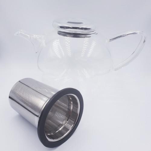 Ronnefeldt Leonardo Glass Teapot With Loose Leaf and Flowering Tea Strainer 0.8l Capacity