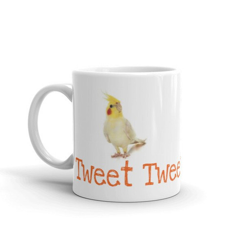 Cockatiel Mug From Polly's Natural Parrot Boutique