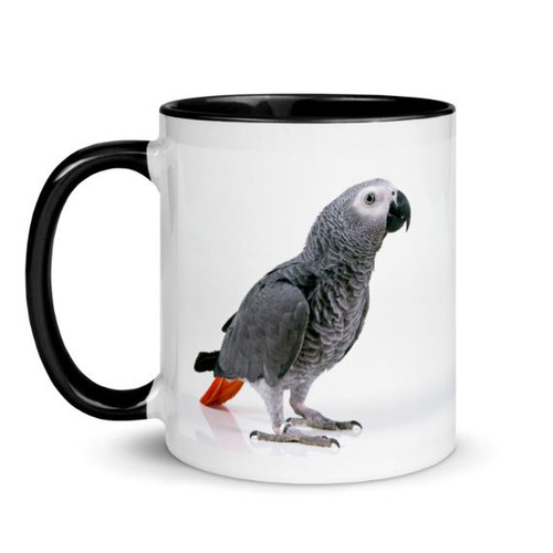 African Grey Mug - Black