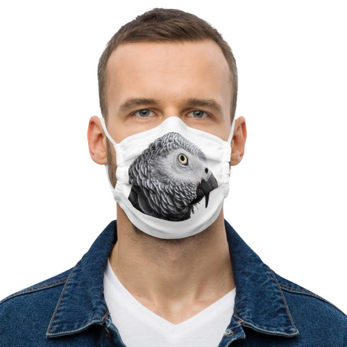 African Grey - Face Mask