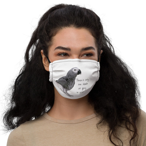 African Grey - Shades of Grey - Face Mask